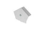 Continuous Dry Verge Ridge End Cap White