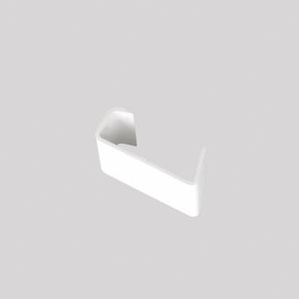 Continuous Dry Verge Straight Connector S Profile White